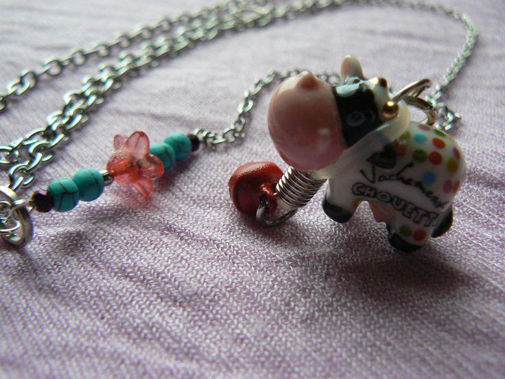 sautoir fantaisie vachement chouette porcelaine et argent collier par dys - Sautoir Fantaisie Color