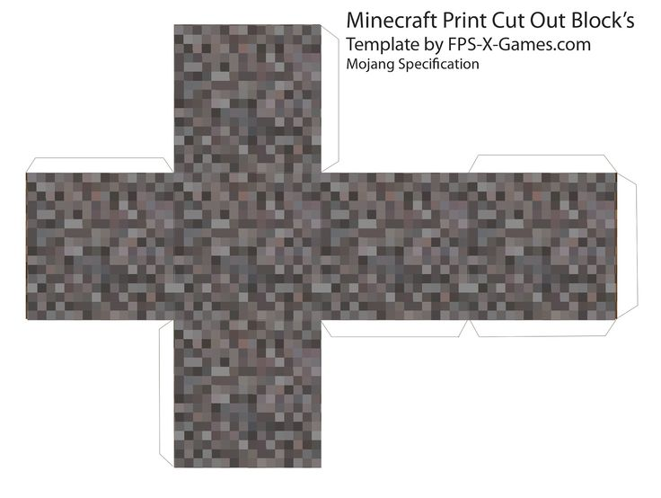 Papercraft template Minecraft gravel block . more on the site!!