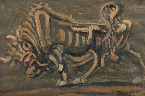 Lee Jung Seop_이중섭 / Bull / oil painting