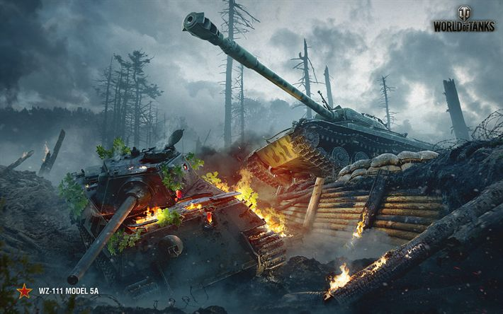 Descargar fondos de pantalla El mundo de los Tanques, el tanque Chino, WZ-111-5A, WoT, juegos en línea, tanques de