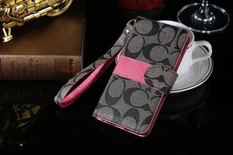 Coach Samsung Galxy S7 Edge Plus Cases Wallet Black :: Coach Galxy S7 Edge Plus Cases Covers Sleeve Coque Fundas Capa Para