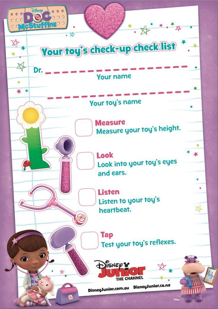 Toy Doctor Pretend Play with free Printable Doctor's Checklist | Doc McStuffins Birthday Party Ideas | Doc McStuffins Party | Doc McStuffins |
