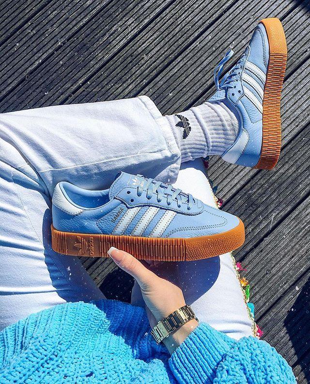 adidas sambarose bleu