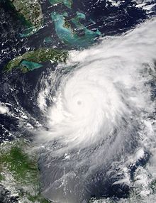 At its peak in the Gulf of Mexico, Ivan was the size of the state of Texas. #hurricaneivan, #CabinetHardware.org, #hurricane