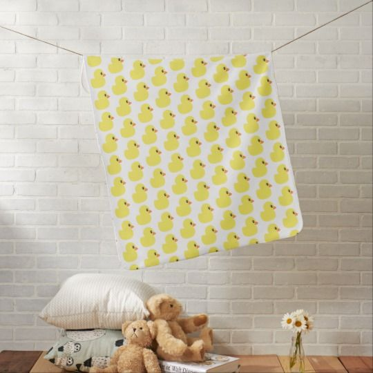 """Rubber Ducky"" Baby Blanket makes a great gift! Other matching items available!"