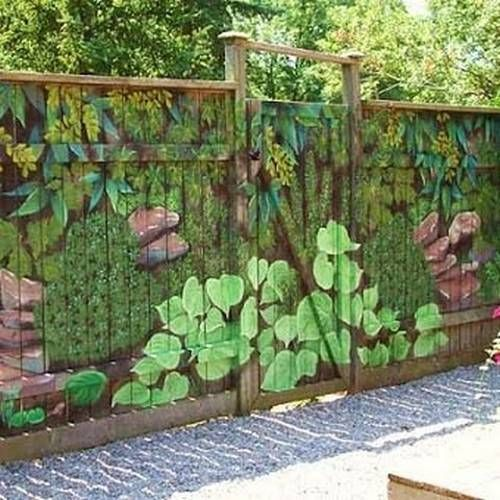 Best 25 fence painting ideas on pinterest for Fence painting ideas