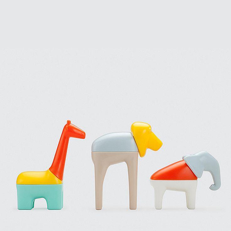 Kid-o mix & match animals mixed up / Un safari coloré