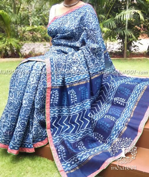 Elegant Chanderi Saree with Stitched borders