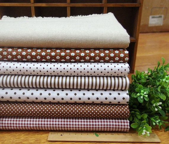 *Size: 45cm x 45cm * Qty: 1 set (7pcs fabric as the picture) *Material: cotton (Plain &Twill include 1 pcs linen fabric) *Shrinkage:3-5% * Due to