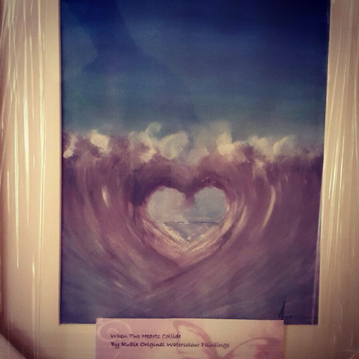 Original watercolour painting- commissioned wedding piece called when two hearts collide