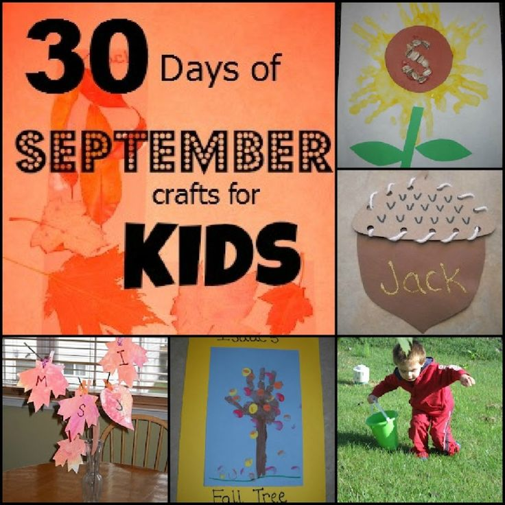Moms Like Me: 30 Days of September CraftsCrafts Ideas, Fall Kid Crafts, September Crafts For Kids, Fall Crafts, Craft Activities, Kids Crafts, September Activities For Kids, Crafts Activities, Autumn Crafts