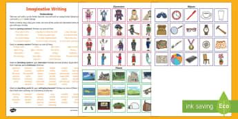 Imaginative Writing Instructions and Prompt Cards Resource Pack - Literacy, Imaginative Writing Instructions and Prompt Cards  Resource Pack, imaginative writing, tex