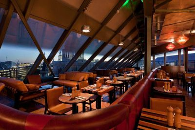 Madison Boasting panoramic views over St Paul's Cathedral, the London Eye and the Tate Modern, Madison restaurant has spectacular views of the London city skyline.