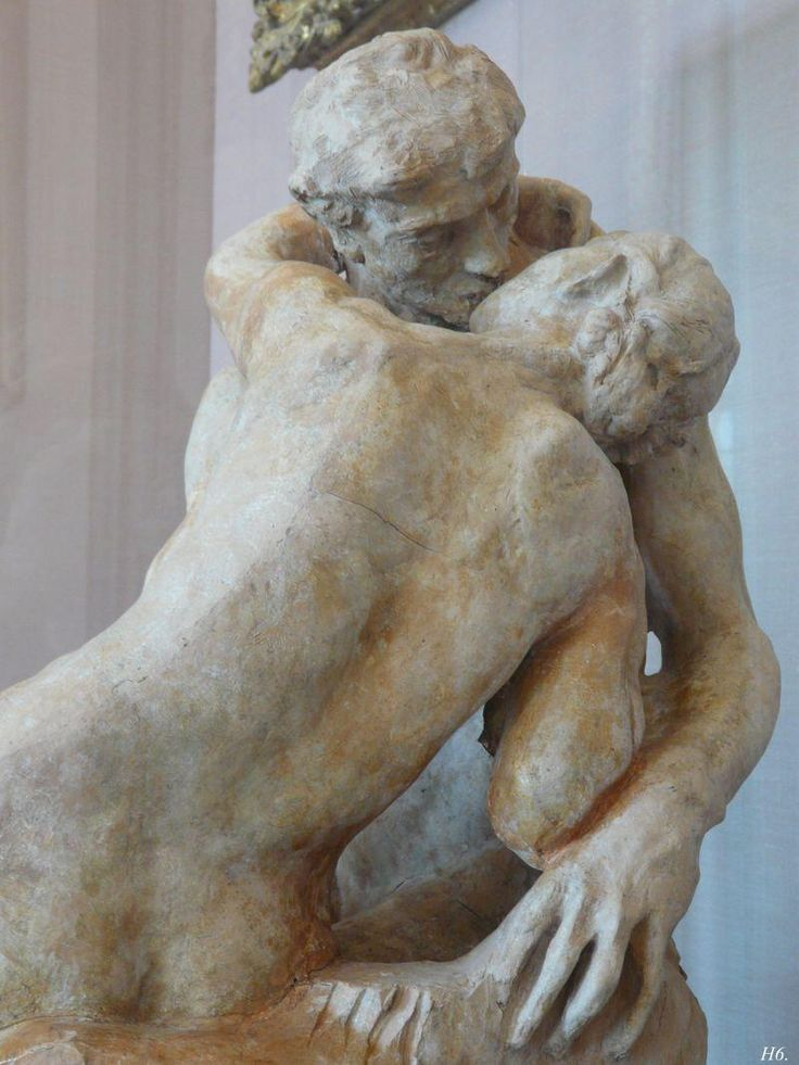 Paolo and Francesca. 1880. Auguste Rodin. terracotta. Rodin museum. Paris