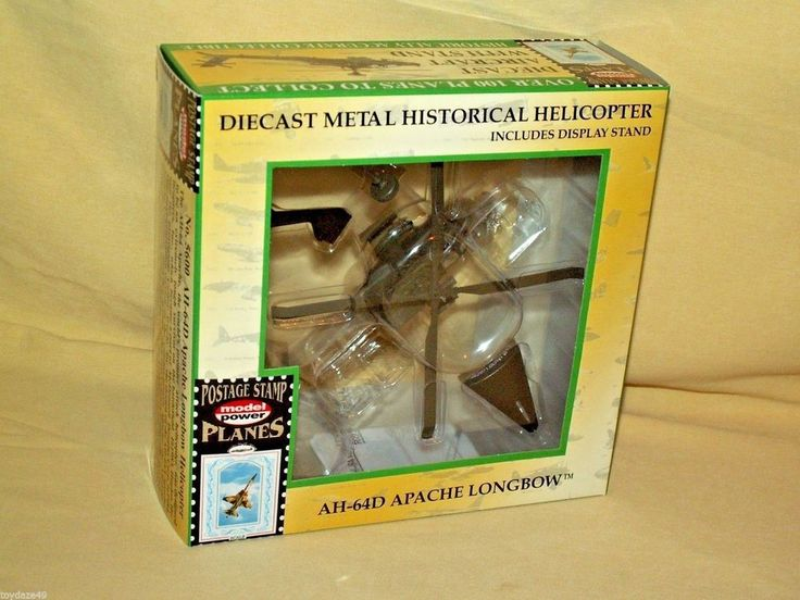 AH-64D APACHE LONGBOW HELICOPTER BOEING 5600 MODEL POWER POSTAGE STAMP 1:100 #ModelPower