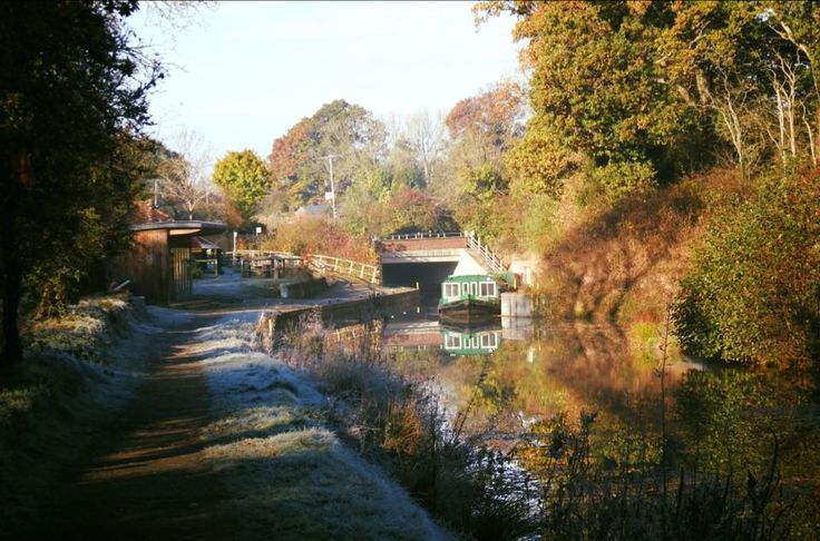 A frosty autumn morning on the Wey and Arun Canal