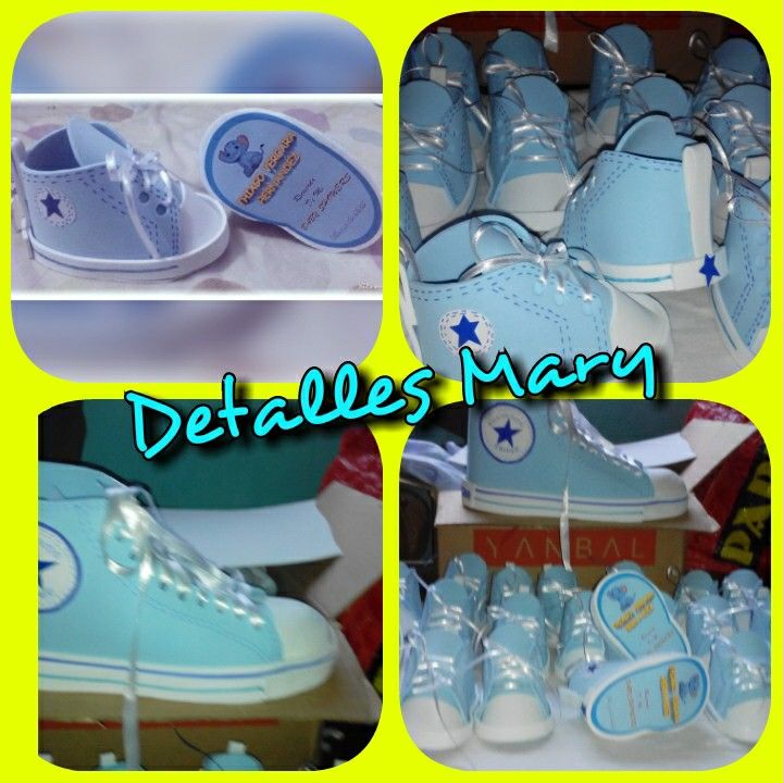 Zapaticos converse en foami. Para baby showers.