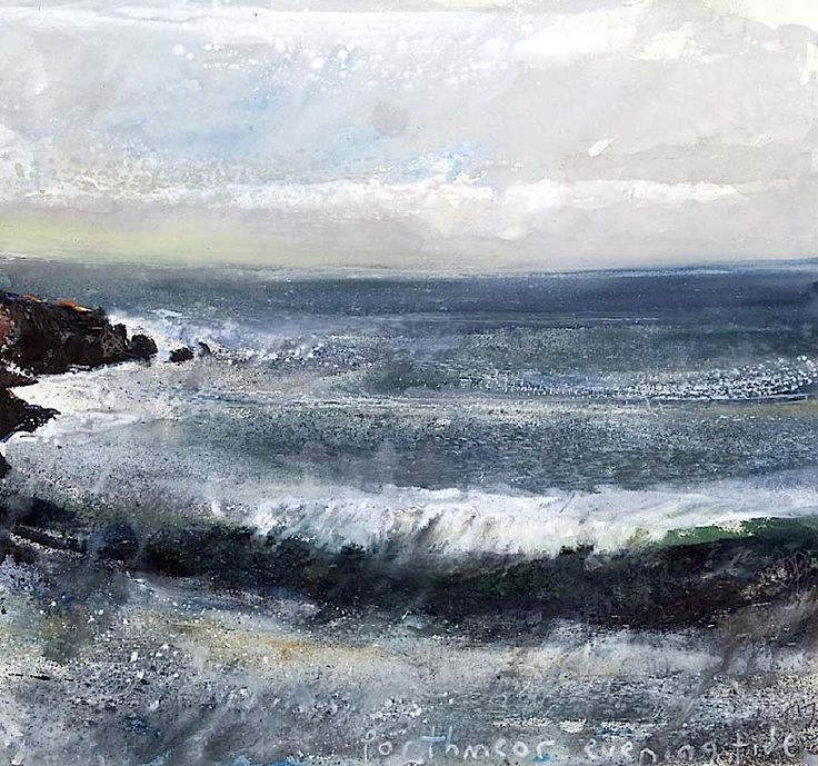 Kurt Jackson - Porthmeor, evening tide