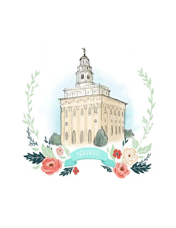 Nauvoo LDS temple latter day saint Mormon by PacePaintings on Etsy