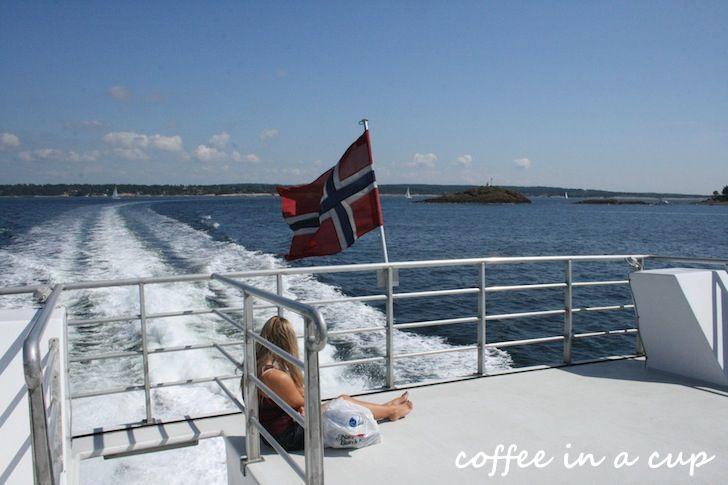 boat trip across the lower end of the oslo fjord, between husvik in vestfold and engelsviken in østfold