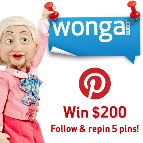 WIN a $200 Old Navy shopping spree! Go to: http://pinterest.com/wongacanada to follow all our boards & repin 5 pins! Ends April 21. Canada only.