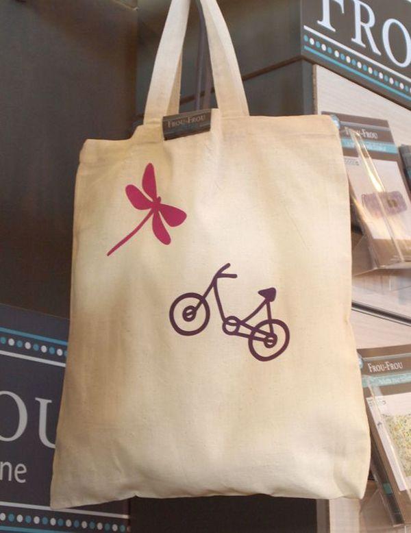 tote bag a customiser Frou-Frou
