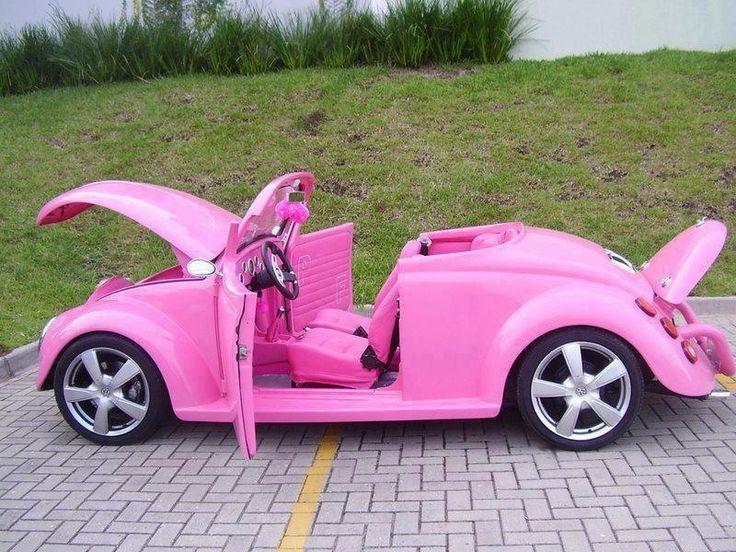 VW bug ~ sooooooooooooo pink!!