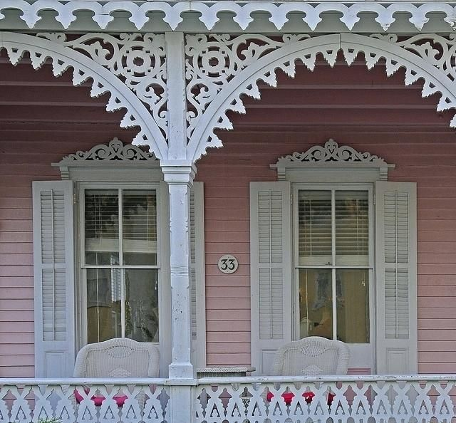 Image Result For Gingerbread House Victorian Window Trim Exterior Victorian Windows Pink Houses