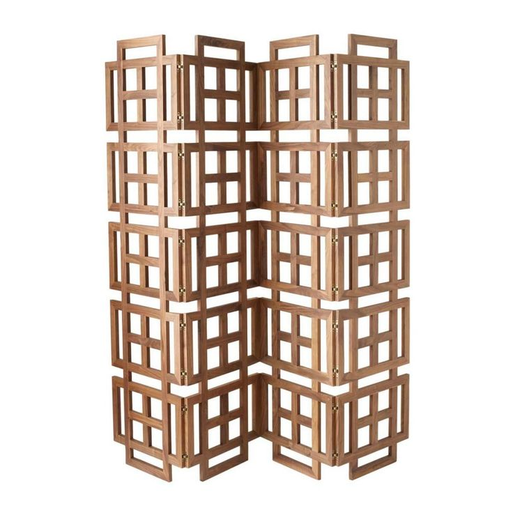 walnut room screen divider modern screens and wall dividers