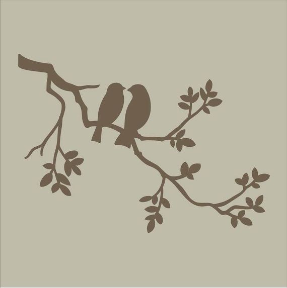 Stencils Two Birds on Branch Stencil Design / by SuperiorStencils, $13.95