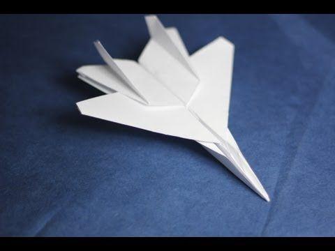 ▶ How to make an F15 Eagle Jet Fighter Paper Plane (Tadashi Mori) - YouTube