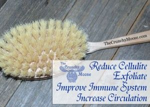 Reduce Cellulite with Dry Body Brushing thecrunchymoose.com