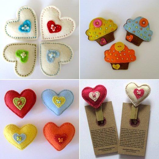The Heartfelt Project handmade felt wedding favours
