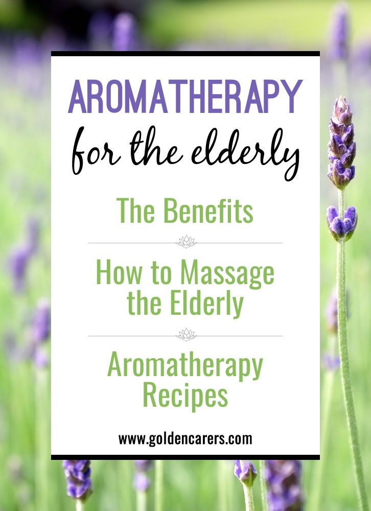 The use of essential oils is a wonderful way to provide comfort and enhance the general health of the elderly in long term care. Learn about the benefits of aromatherapy for seniors including those with dementia. Aromatherapy recipes included.