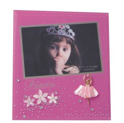 Pink Princess Glass Frame 4 x 6 – Purple Clover Photo Frames and Giftware