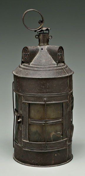 18th Century Tin and Horn Lantern.  Can you imagine, the window panels were made not of glass but thinly carved horn.