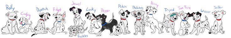 101 dalmatians 15 puppies names - Google Search