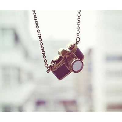 "Camera Necklace *ahem, my birthday is April 9- someone forward this to my husband. I want a 22"" chain. :)*"