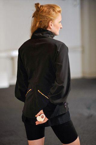 Black Kimono Windbreaker