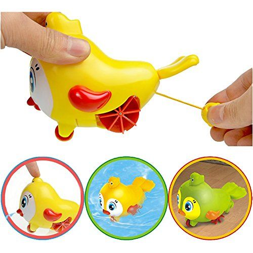 2016 Lovely bird groud toys,Amphibious Clockwork Dabbling Toy Baby bath water toy for kids,wind up bathtub toys,easy&funny bath time,for 3-60 months baby $5.99 CE&FDA approved!! The Rainbowkids baby bath toys approved all of U.S. and European regulatory standards for child & Baby safety.Rainbowkids specialize in baby safety products industry more than 15 years.More safe and reliable for the kid&baby . Materials: Eco-Friend Plastics(No harm to baby).Shaped lovely Bird.Size:suitable…