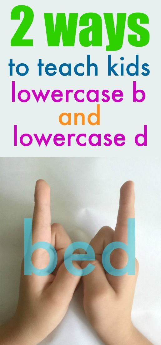 2 GENIUS ways to teach kids how to recognize lowercase b from d – Melanie Whitmire