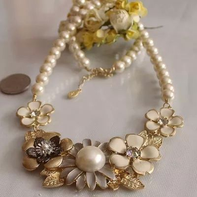 Fashion necklace 2014 Fashion new glass pearl flower necklace restoring ancient ways with 10.11-in Chain Necklaces from Jewelry on Aliexpress.com   Alibaba Group