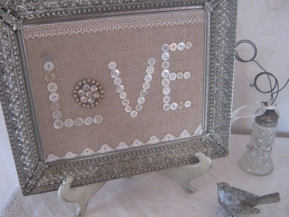 burlap wedding shower decorations | ... wedding vintage inspired bridal shower decoration original design by
