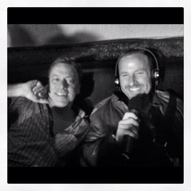 """Jason & Chris hanging out side stage at the KCRW SXSW Wednesday Night Showcase!"""""""