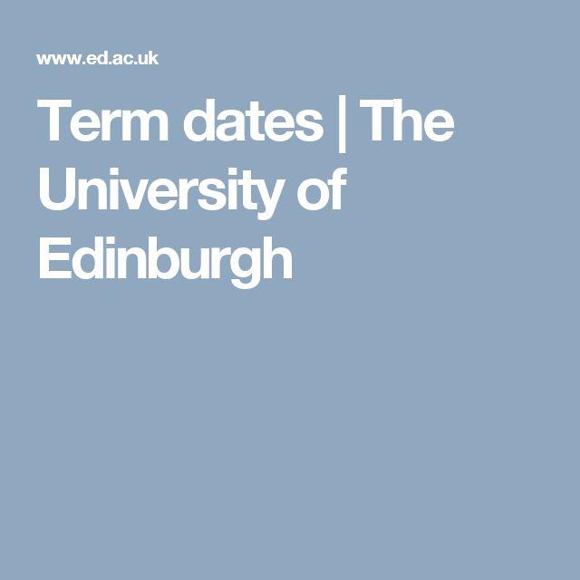 Term dates | The University of Edinburgh