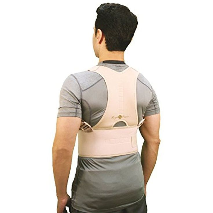 """Back Support Belt Royal Posture By BulbHead Posture Corrector Brace 25-36"""" S/M #Telebrands"""