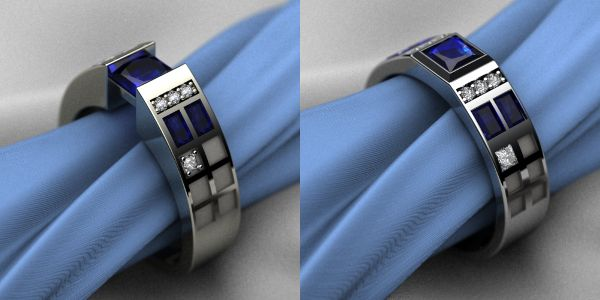 Doctor Who Engagement Ring | Amazing his and hers Doctor Who wedding