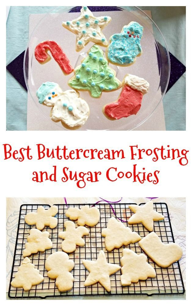 BEST Buttercream Frosting Recipe and Sugar Cookies