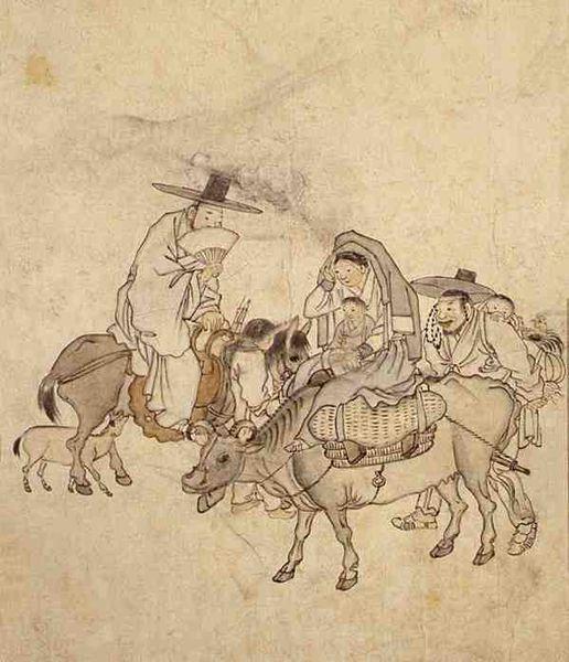 단원(檀園) 김홍도(金弘道). Smile on the road, Korean National Museum, 1780