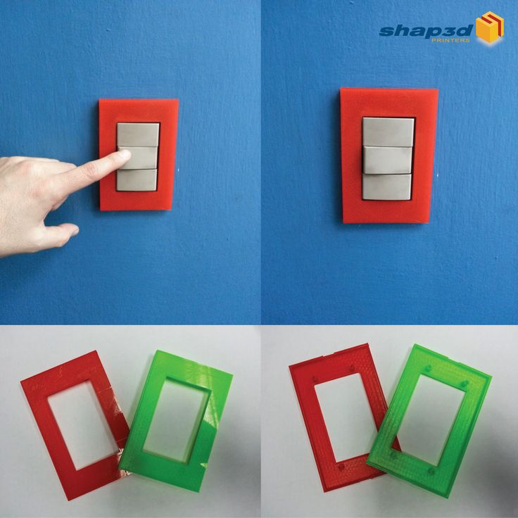 Personaliza tu cuarto, casa u oficina con la impresión 3D del día de hoy: tapas para interruptores de luz impresas. Si puedes pensarlo, puedes imprimirlo!